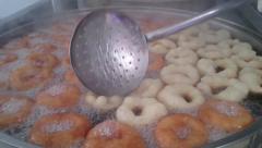 Turkish dessert - lokma Stock Footage