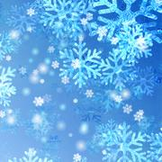 Stock Illustration of blue Christmas snowflakes