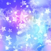 blue and pink stars - stock illustration