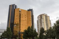 View of the architecture and buildings in Baku, in Azerbaijan. - stock photo