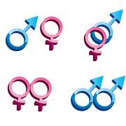 Gender symbols - stock illustration
