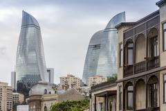 Flame Towers. Flame Towers is a symbol of the new Baku - stock photo