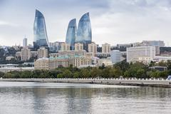 Flame Towers. Flame Towers is a symbol of the new Baku Stock Photos