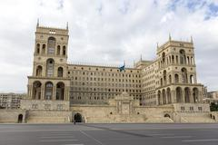 The Government house of Azerbaijan in Baku, Azerbaijan. - stock photo