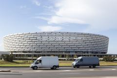 Azerbaijan, Baku - September 16, 2015: Baku National Stadium in Baku, Azerbai Stock Photos