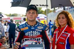 ROME, ITALY - SEPTEMBER 30 2007. Superbike championship, Vallelunga circuit.  - stock photo