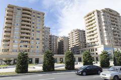 Stock Photo of City view of the capital of Baku, in Azerbaijan.