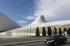 Azerbaijan, Baku - September 16, 2015: Heydar Aliyev Center in Baku, Azerbaij - stock photo