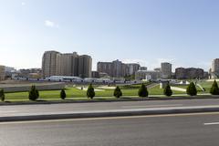 City view of the capital of Baku, in Azerbaijan. Stock Photos