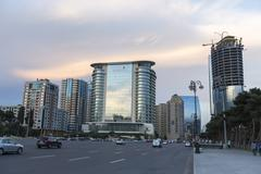 City view of the capital of Baku, in Azerbaijan. - stock photo