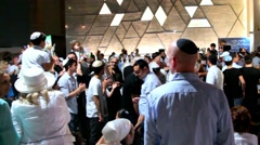 Ceremony of Simhath Torah . Tel Aviv. Stock Footage