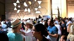 Ceremony of Simhath Torah . Tel Aviv. - stock footage