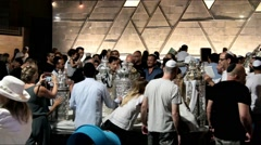 Ceremony of Simhath Torah with Chuppah . Tel Aviv. Without sound - stock footage