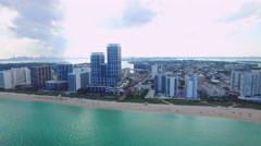 Beautiful day in Miami aerial video Stock Footage