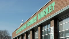 Old Strathcona Farmer's Market in Edmonton Alberta Stock Footage