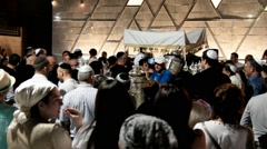 Ceremony of Simhath Torah with Chuppah . Tel Aviv. Stock Footage