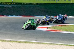 ROME, ITALY - SEPTEMBER 30 2007. Superbike championship, Vallelunga circuit.  Stock Photos