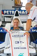 ROME, ITALY - JUNE 23 2007. Formula 1 Sauber Bmw with young girl sits inside Kuvituskuvat