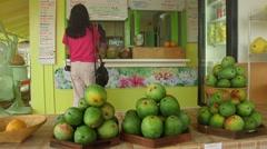 Fruit Stand on Kauai, Hawaii Stock Footage