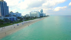Come to Miami Beach aerial video - stock footage