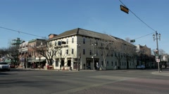Strathcona Hotel on Whyte Ave in Edmonton Alberta Stock Footage
