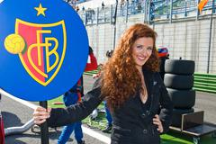 VALLELUNGA CIRCUIT, ROME, ITALY - NOVEMBER 2 2008. Grid girl - stock photo