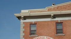 Walterdale Theater and Old Strathcona Farmer's Market in Edmonton Alberta Stock Footage
