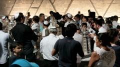Ceremony of Simhath Torah - stock footage