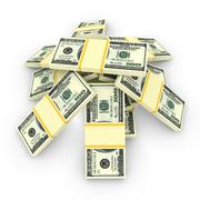 Money stack isolated on white. Finance concepts - stock illustration