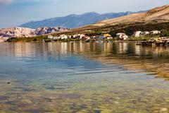 Croatia, adriatic sea background beach Stock Photos