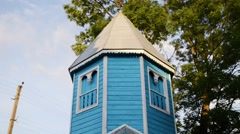 Bell tower of church of St. Paraskeva in Divin Stock Footage