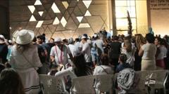 Ceremony of Simhath Torah. Tel Aviv. Israel - stock footage