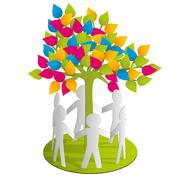 Around the paper tree Stock Illustration