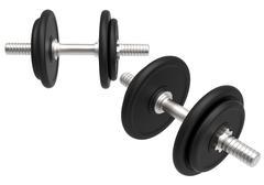 Dumbell Weights Set  - stock illustration