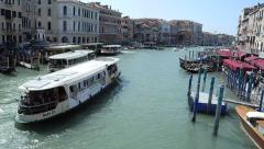 Vaporreto bus boat on the Grand canal Stock Footage