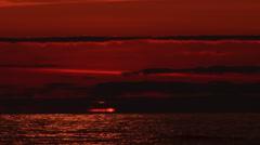 Iconic marine sunrise Stock Footage