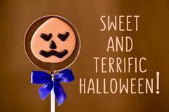 Sweet and terrific halloween Stock Photos
