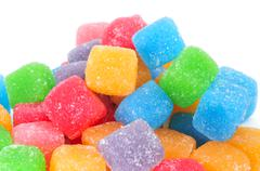 Cubic gumdrops Stock Photos