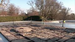 JFK Eternal Flame at Arlington National Cemetery Stock Footage