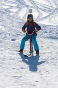 Active winter holidays, skiing and snowboarding Stock Photos