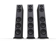 Tall Speakers Stock Illustration