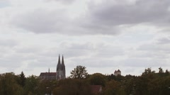 The Cathedral of Regensburg timelapse - stock footage