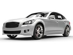 Silver Large Luxury Car Stock Illustration