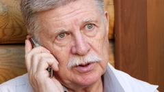 Senior Man Speaking On The Phone Stock Footage