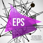 Abstract background with dots and lines. - stock illustration