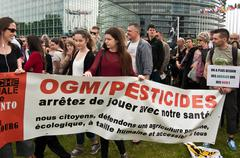 Stock Photo of people protest against monsanto