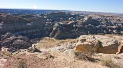 San Juan Basin Badlands Stock Footage