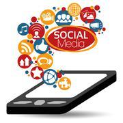 Stock Illustration of Illustration Vector Graphic Social Media