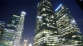 4K Night Cityscape Time Lapse 33 LA Downtown Buildings Zoom In Footage