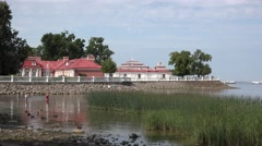 The Monplaisir villa (in 4k), Peterhof Palace, Petergof, St Petersburg, Russia. - stock footage